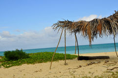 Serene Tropical Beach Scene. On Oahu, Hawaii in the Pacific Islands Royalty Free Stock Photo