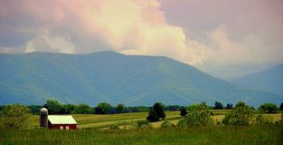 Serene Valley. This picture was taken near Blue Ridge mountains, VA, USA Royalty Free Stock Images