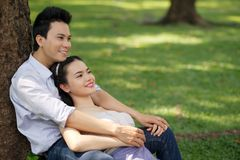 Serene Vietnamese couple Stock Image