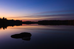Serene view of calm lake Stock Photography