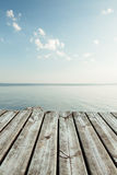 Serene view from pier to the lake Royalty Free Stock Photo