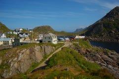 Serene village of Nyksund in summer Stock Photos