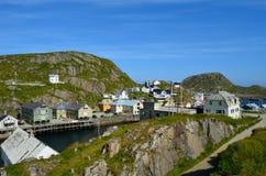 Serene village of Nyksund in summer, vesteraalen Norway Stock Photography