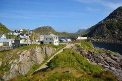 Serene village of Nyksund in summertime in vesteraalen, northern Norway Stock Image