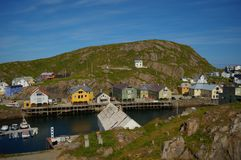 Serene village of Nyksund in summertime in vesteraalen, northern Norway Stock Photo