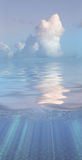 Serene water and clouds Royalty Free Stock Photography