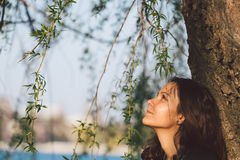 Serene woman Stock Images