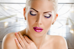 Serene woman with healthy skin and beauty Royalty Free Stock Photos