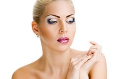 Serene woman with healthy skin and beauty Royalty Free Stock Photography