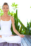 Serene woman meditating Royalty Free Stock Photos