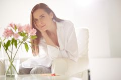 Serene woman royalty free stock image