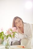Serene woman royalty free stock photo