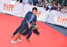 Serenety Brown e Isaac Brown no festival de cinema internacional de Toronto para REIS premiere imagem de stock royalty free