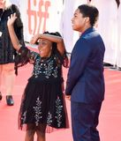 Serenety Brown and Isaac Brown at toronto international film festival. Siblings and Actors Serenety Brown and Isaac Brown at the `Kings` premiere during 2017 Stock Photo