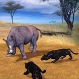 serengeti生存 皇族释放例证
