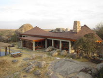 Serengeti lodge Stock Photo