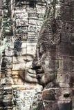 Serenidad de las caras Bayon, Angkor, Camboya. Sitio del patrimonio mundial de la UNESCO. fotos de archivo libres de regalías