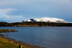 A serenidade de um fiorde em Noruega Fotografia de Stock