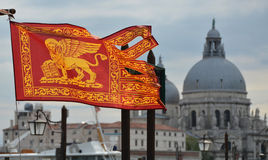 Serenissima. The old flag of Republic of Venice Royalty Free Stock Photos
