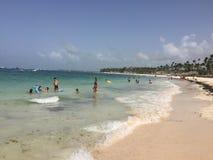 Serenità caraibica della spiaggia Fotografia Stock
