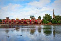 Serenità Londra Gran Bretagna del bacino di Shadwell Fotografia Stock