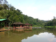 Serenità in Taman Cahaya, Shah Alam, Malesia immagini stock libere da diritti