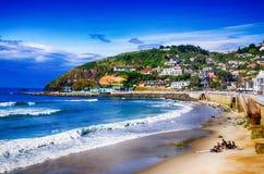 Sereniteit op St Clairs Strand Nieuw Zeeland royalty-vrije stock afbeelding