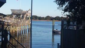 Sereniteit van de waterweg Stock Foto's