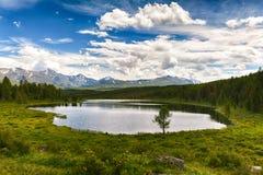 Serenitet av de Altai bergen Royaltyfria Bilder