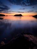 Serenitet efter solnedgång royaltyfria foton