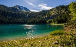Serenitet på en sjö, Montenegro Fotografering för Bildbyråer