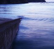 Serenity. Small waves on the ocean Royalty Free Stock Photos