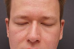 Serenity. Man dreaming with eyes closed Stock Photography
