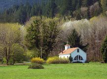 Serenity. A lovely church in a rural area of Washington State stock image