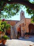 Serenity Agia Triada monastery stock photography
