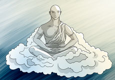 Serenity av meditationen vektor illustrationer