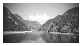 Serenity in Black and White stock photo