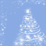 Serenity (blue) colored winter holidays background with Christmas tree Royalty Free Stock Photography