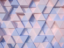 Serenity Blue and Rose Quartz  abstract 3d triangle background Stock Photography