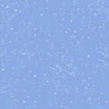 Serenity colored (blue) winter holidays background with sparkling stars Stock Photos