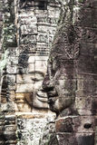 Serenity of faces Bayon, Angkor, Cambodia. UNESCO World Heritage Site. Royalty Free Stock Photos