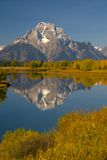 Serenity II. Autumn scene of Oxbow Bend, Grand Teton National Park, Wyoming, USA stock photos