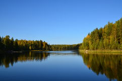 Serenity. Lake in the north. Beautiful landscape Stock Image