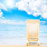 Serenity and peace on a beach Royalty Free Stock Photography