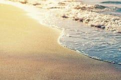Free Serenity Sand Beach With Waves. Sunny Sea Shore Royalty Free Stock Photos - 100105158