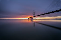 Serenity. At Vasco da Gama Bridge - Lisboa Stock Images