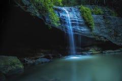 Serenity Waterfall Buderim. Serenity Falls, Rain Forest, flowing Water fall, Waterfall, Rainforest, creek, Long exposure, Buderim Sunshine Coast, Queensland Stock Photo