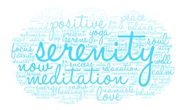 Serenity Word Cloud Royalty Free Stock Photography