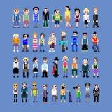 Seres humanos do pixel Imagens de Stock Royalty Free