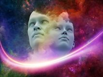 Seres humanos virtuais Imagem de Stock